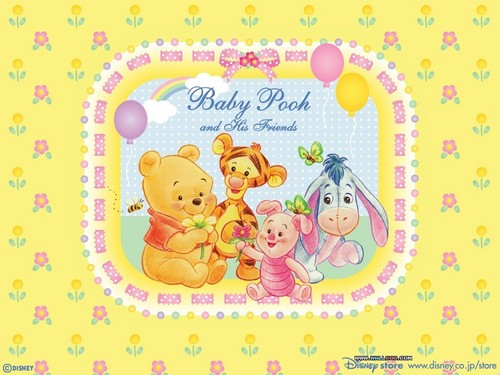O Ursinho Puff wallpaper titled Baby Winnie the Pooh wallpaper