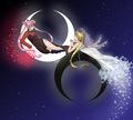 Black Lady & Princess Serenity
