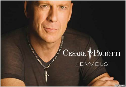 Bruce Willis wallpaper possibly with a portrait entitled Bruce Willis Cesare Paciotti Ad