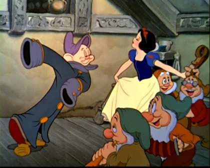 Dopey and Snow White Dancing