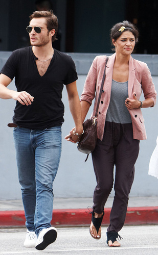 Ed Westwick and Jessica Szohr out in LA
