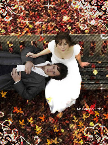 Mr. Darcy & Elizabeth wallpaper possibly with a japanese apricot, a bouquet, and a sign titled Elizabeth and Mr. Darcy