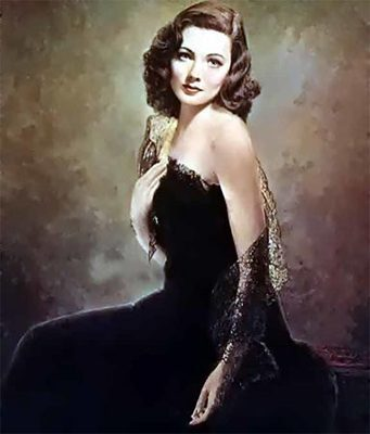 Classic Movies wallpaper possibly containing a bustier, a dinner dress, and a cocktail dress called GenE Tierney