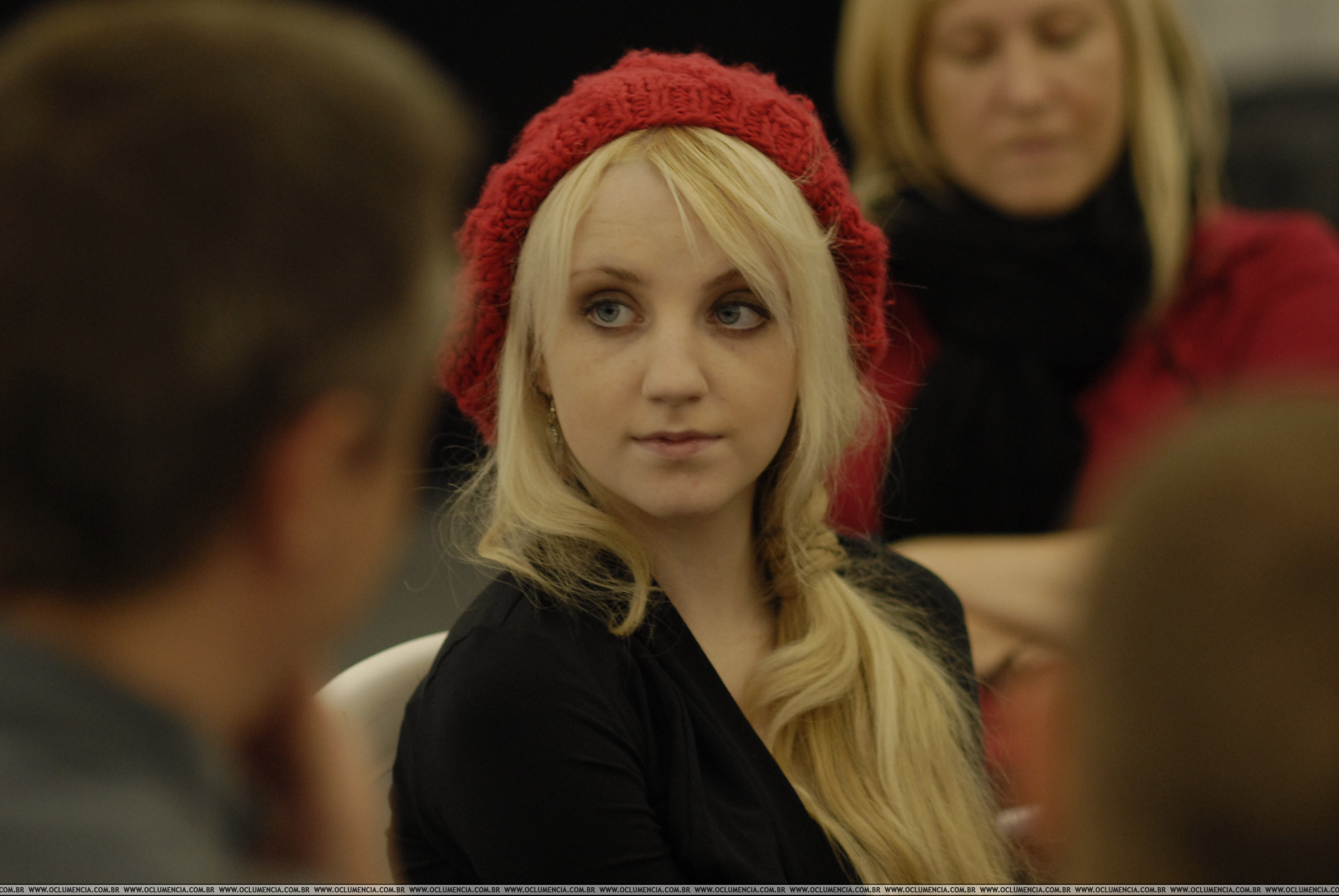 HP 5 dvd lunch party - evanna-lynch photo