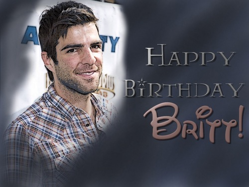 Zachary Quinto wallpaper probably containing a sign and a portrait called Happy Birthday!