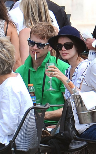 Hayden Christensen and Rachel Bilson at the French Open