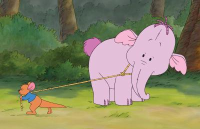 Winnie Pooh fondo de pantalla possibly containing anime called Heffalump and Roo