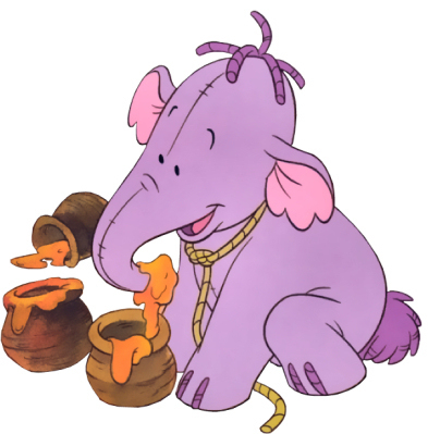 Winnie l'ourson fond d'écran possibly with animé titled Heffalump