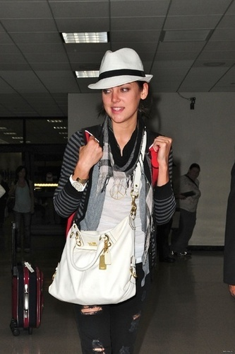 Jessica Stroup at LAX airport