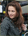 Kristen On The New Moon Set - twilight-series photo