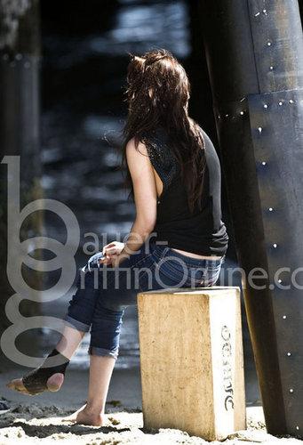 Kristen on the set of photoshoots