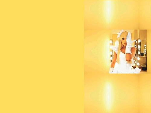 Lady Gaga yellow background