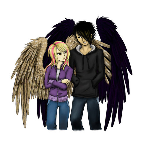 Maximum Ride Hintergrund titled Max & Fang
