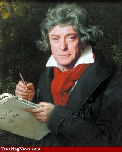 Michael Caine as Beethoven