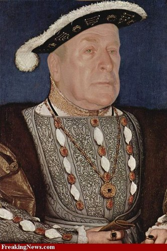 Michael Caine as Henry VIII