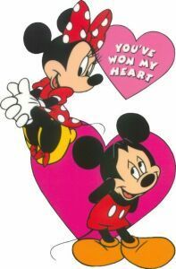 Mickey and Minnie Valentine