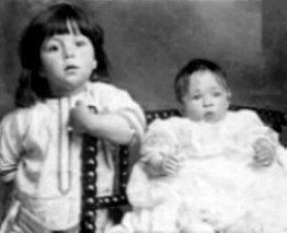 R.M.S. Titanic wallpaper probably with a bridesmaid and a portrait called Millvina with brother, Bertram jr.