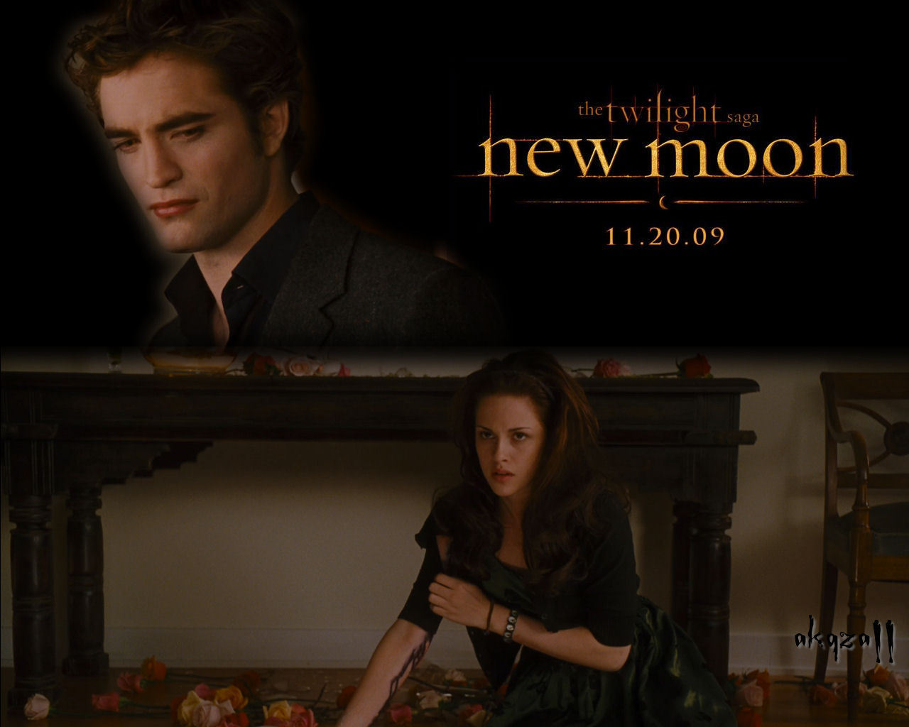 new moon edward and bella wallpaper 6522792 fanpop
