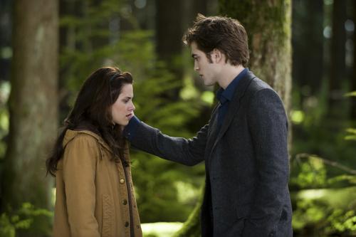 Twilight Saga Filem kertas dinding with an outerwear called New Moon