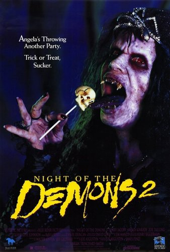 Horror Movies wallpaper containing anime entitled Night Of The Demons 2 movie poster