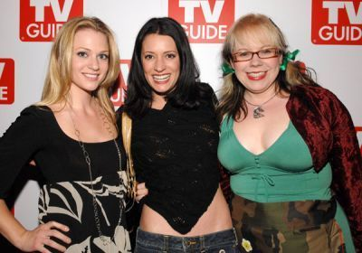 Paget with Kirsten Vangsness and AJ Cook