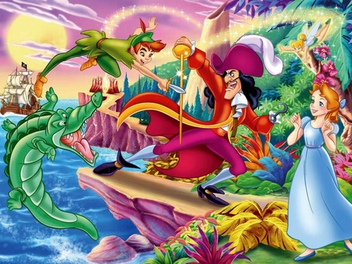 Disney wallpaper probably containing anime called Peter Pan Wallpaper