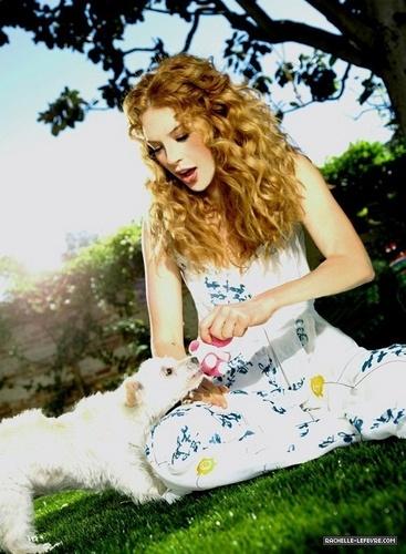 Rachelle with dog