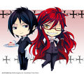 Sebastian et Grell fan art