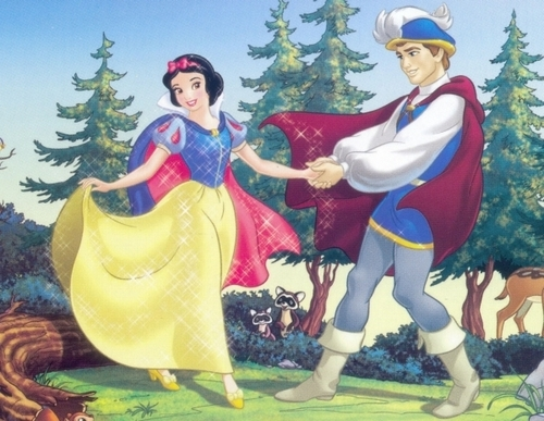 Snow White and the Seven Dwarfs achtergrond titled Snow White and her Prince