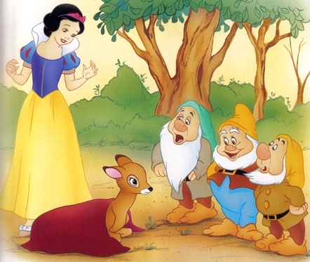 Snow White and the Seven Dwarfs wallpaper with anime entitled Snow White
