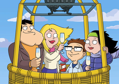 American Dad! wallpaper entitled Stan, Francine, Steve and Hayley