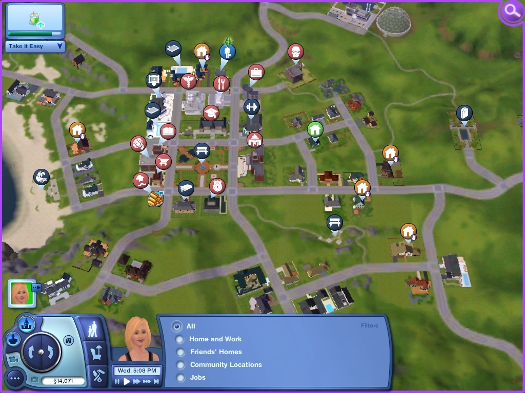 Sunset Valley mapview - The Sims 3 Image (6590499) - Fanpop
