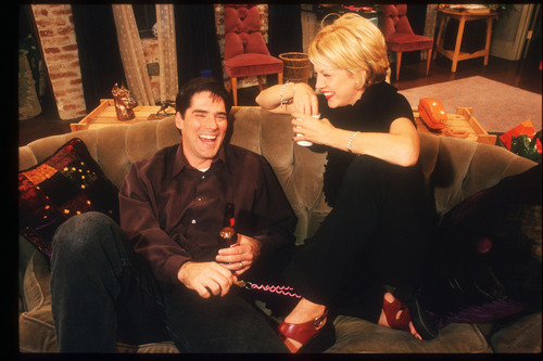 Thomas Gibson wallpaper probably containing a brasserie, a wine bar, and a business suit titled TG in Dharma and Greg- Behind the Scenes