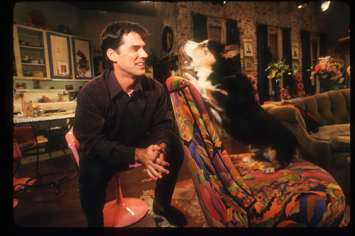 Thomas Gibson wallpaper probably with a street and a brasserie called TG in Dharma and Greg- Behind the Scenes