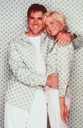 Thomas Gibson wallpaper possibly containing a chainlink fence titled TG in Dharma and Greg