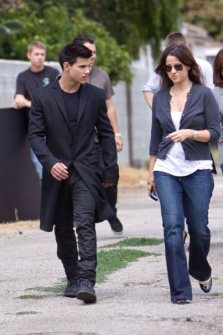 Taylor Lautner at a фото shoot in Los Angeles