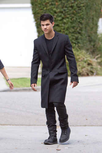 Taylor Lautner at his photo shoot in L.A.