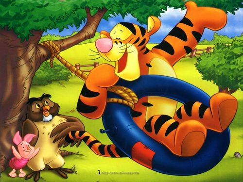 O Ursinho Puff wallpaper with animê called Tigger wallpaper