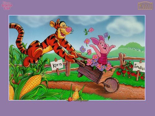 Winnie the Pooh پیپر وال containing عملی حکمت called Tigger and Piglet پیپر وال