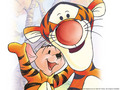 Tigger and Roo kertas dinding