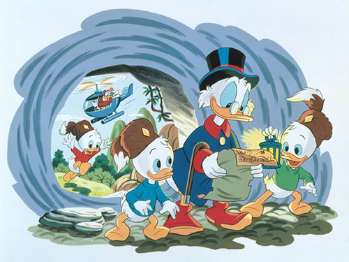 Uncle Scrooge, Huey, Dewey and Louie 壁纸