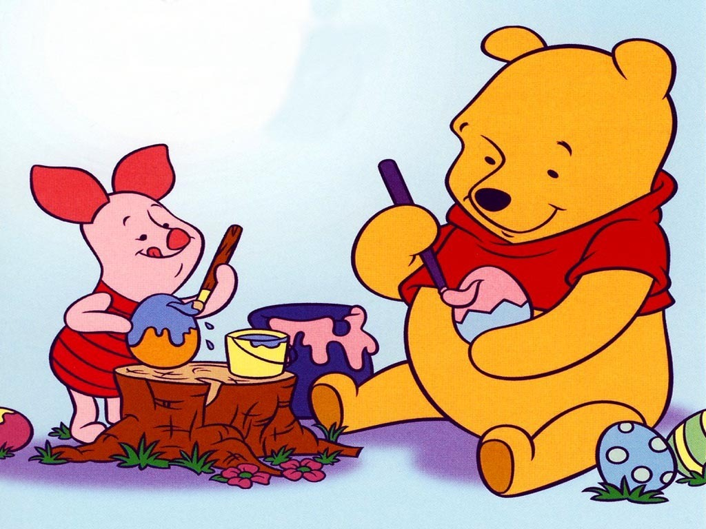 Winnie the Pooh Easter achtergrond