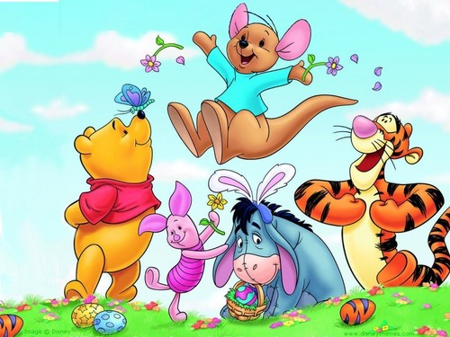 Pu der Bär Hintergrund containing Anime called Winnie the Pooh Easter Hintergrund