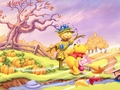 Winnie the Pooh Halloween achtergrond