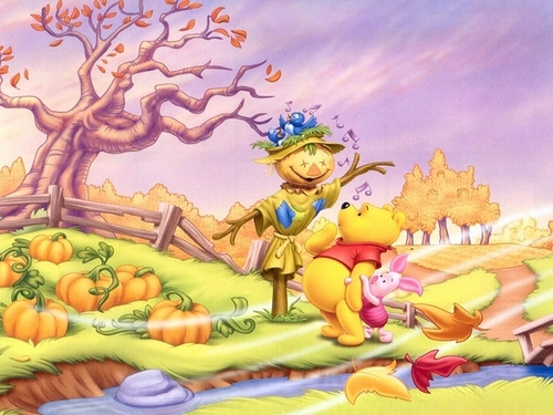 Winnie the Pooh wallpaper containing Anime titled Winnie the Pooh Halloween wallpaper