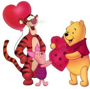 Pu der Bär Hintergrund entitled Winnie the Pooh Valentine