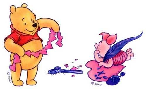 Winnie Pooh fondo de pantalla called Winnie the Pooh Valentine