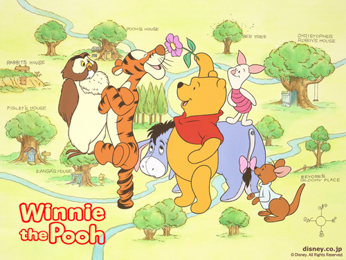 O Ursinho Puff wallpaper containing animê called Winnie the Pooh wallpaper
