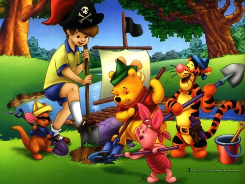 Winnie The Pooh kertas dinding probably with Anime entitled Winnie the Pooh kertas dinding