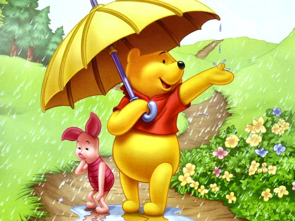 Winnie the pooh bedroom wallpaper